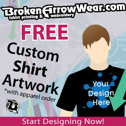 Your design here on custom tee from BrokenArrowwear