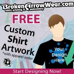 Your design here on custom tee from BrokenArrowwear