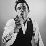 Johnny Cash and his black custom shirts
