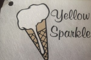yellow sparkle ink