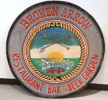 The Broken Arrow Bar's original sign