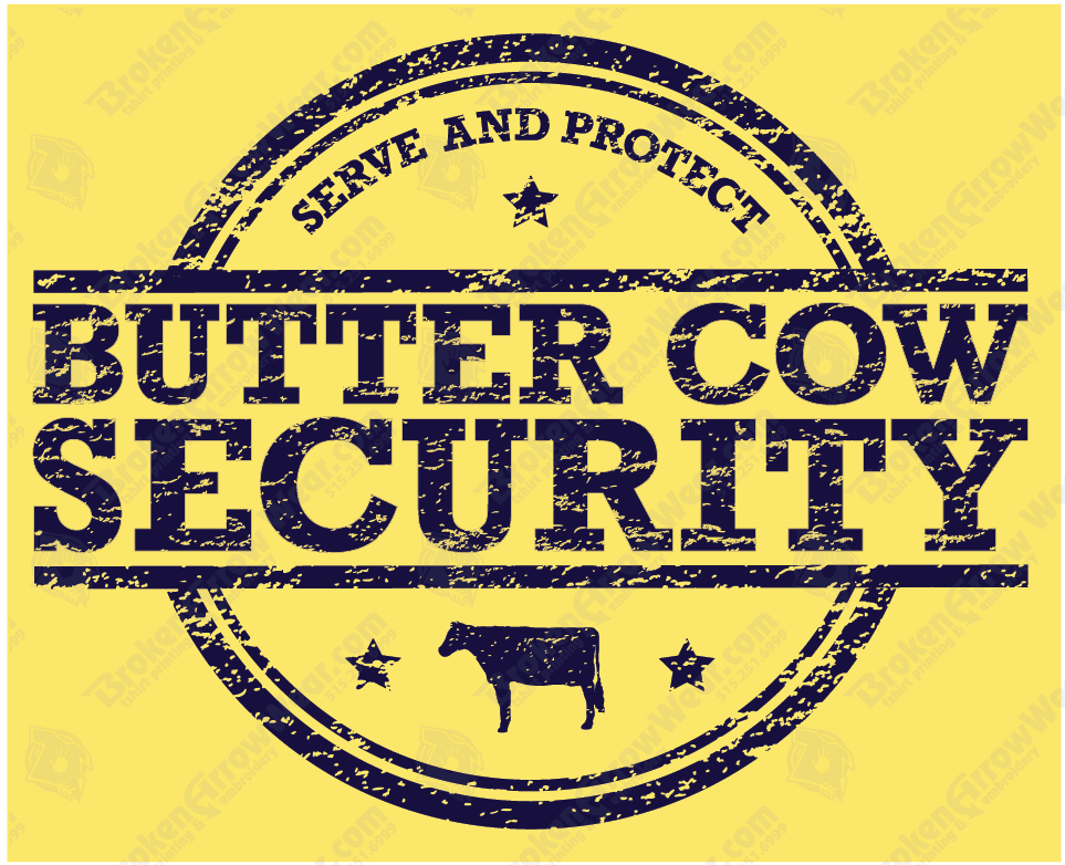State Fair Butter Cow Security T-Shirts