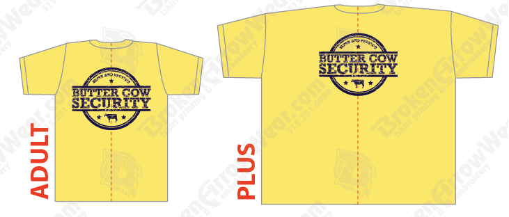 Butter Cow Security Shirts 2016