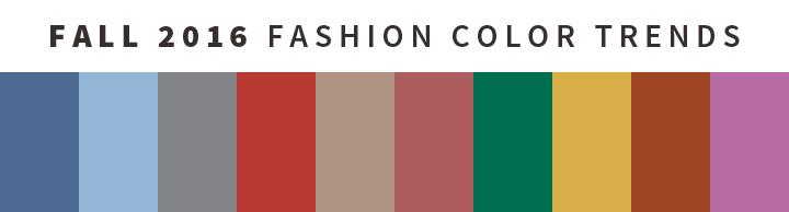 fall fashion colors
