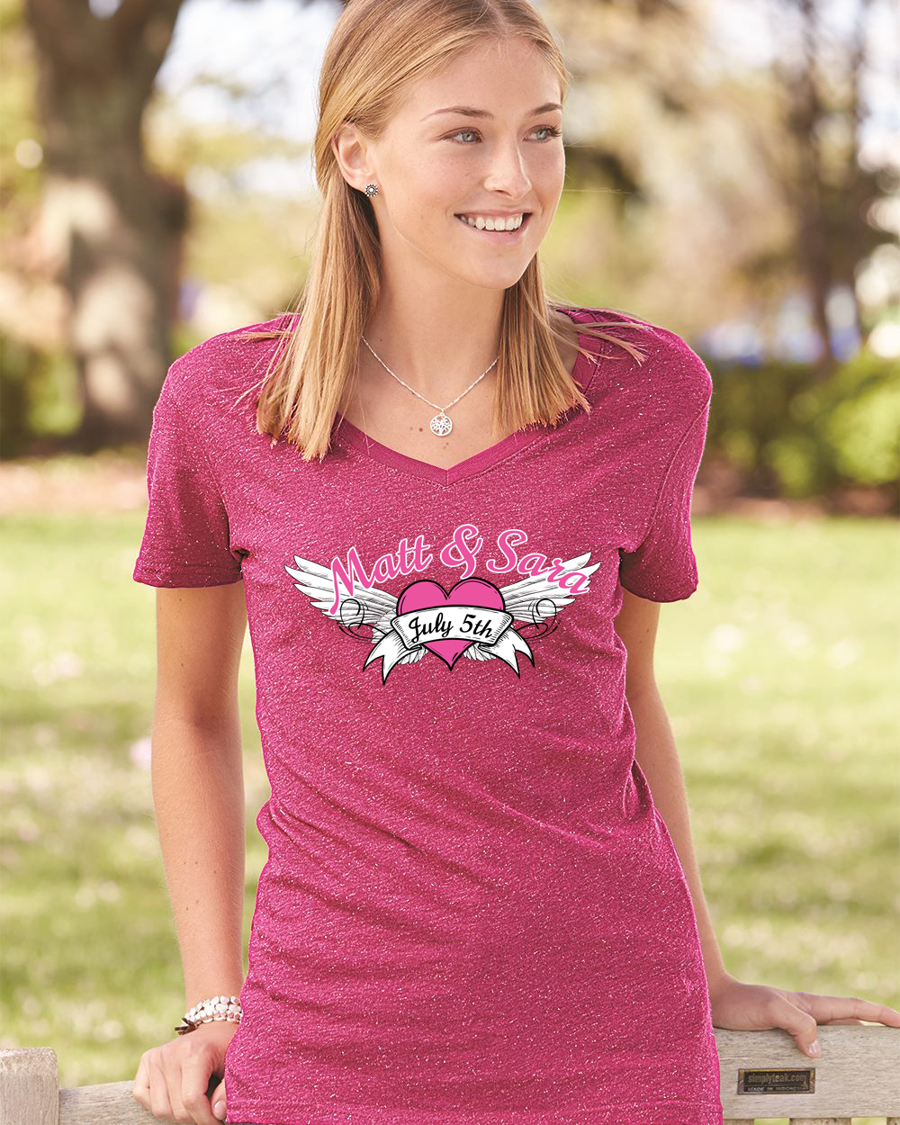 CUSTOM DECORATED TEES! ORDER FEB 6th FOR FREE DELIVERY FEBRUARY 14TH!