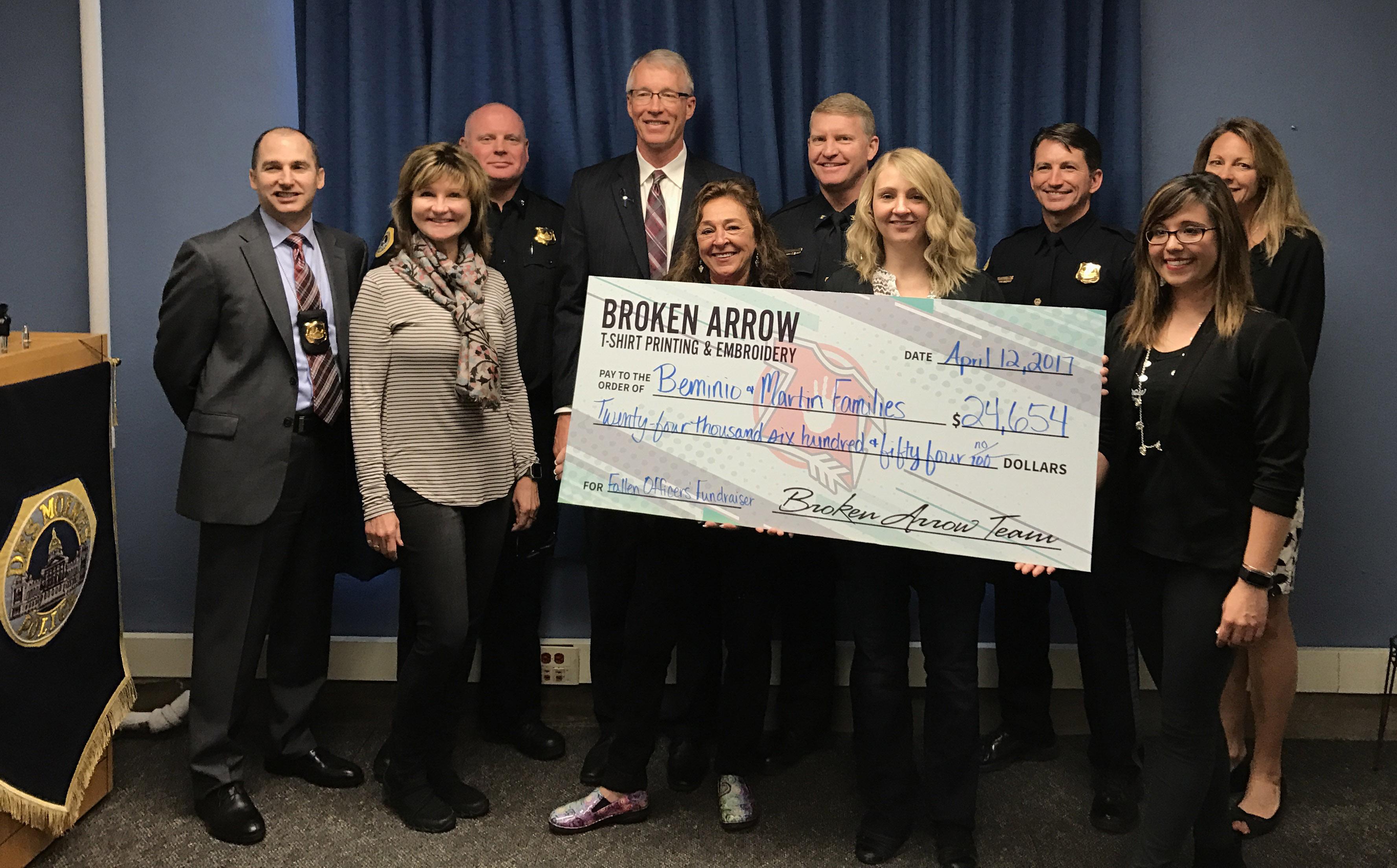Broken Arrow Donates $24,000 through T-shirt Fundraiser!