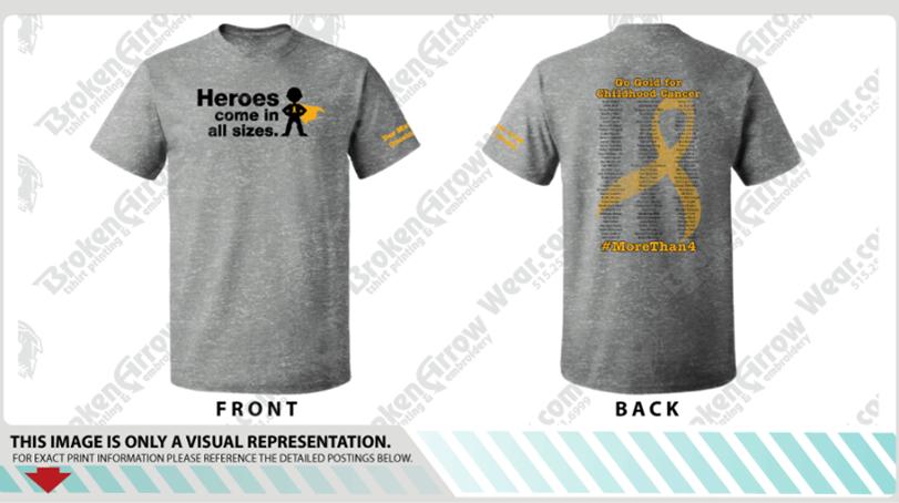 Broken Arrow T Shirt Printing Fundraising For Cancer