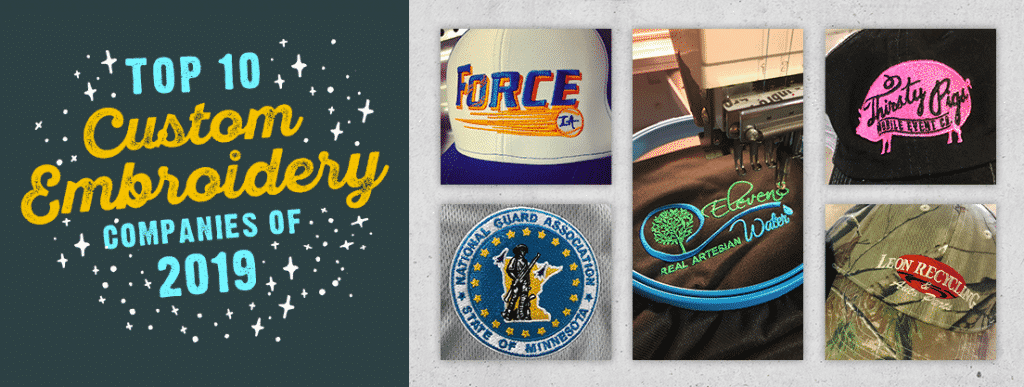 Top 10 Custom Embroidery Companies of 2019
