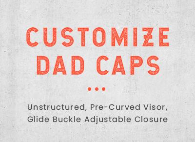 Custom Dad Hats, Custom Emboridered Dad Hats