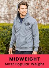 custom midweight hoodies