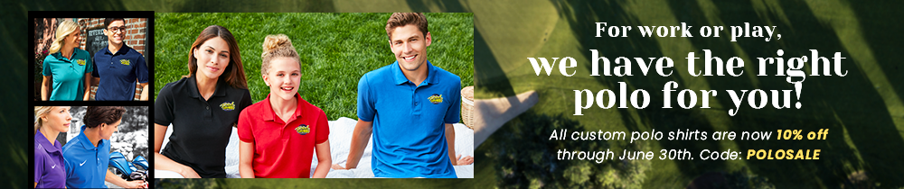 05f69804 Custom Polo Shirts. 100% Cotton Polos. performance. Nike DriFit Polo Shirts