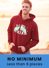 no minimum custom hoodies