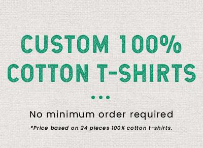 Custom 100% Cotton T-Shirt Printing Products
