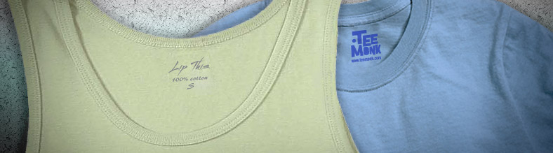 Give your custom designed screen printed shirts extra flair with customized shirt tags