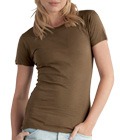 Add bling, rhinestones and custom labels to the AA1072 ladies tee