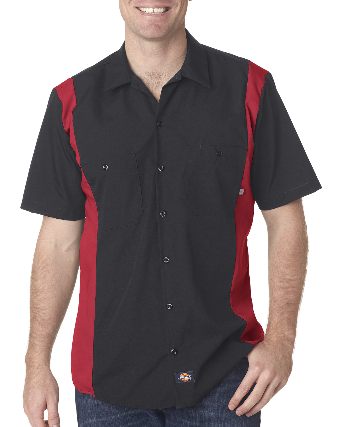 Custom embroidered work shirts for Embroidered dickies work shirts