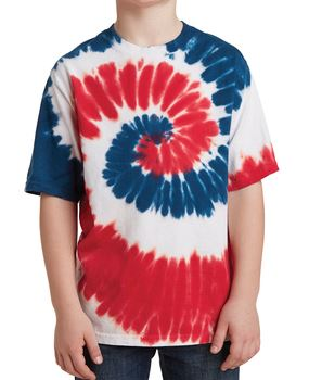 c5ad65eb Customizable Youth Tie-Dyed T-Shirts. minimum Port and company PC147Y