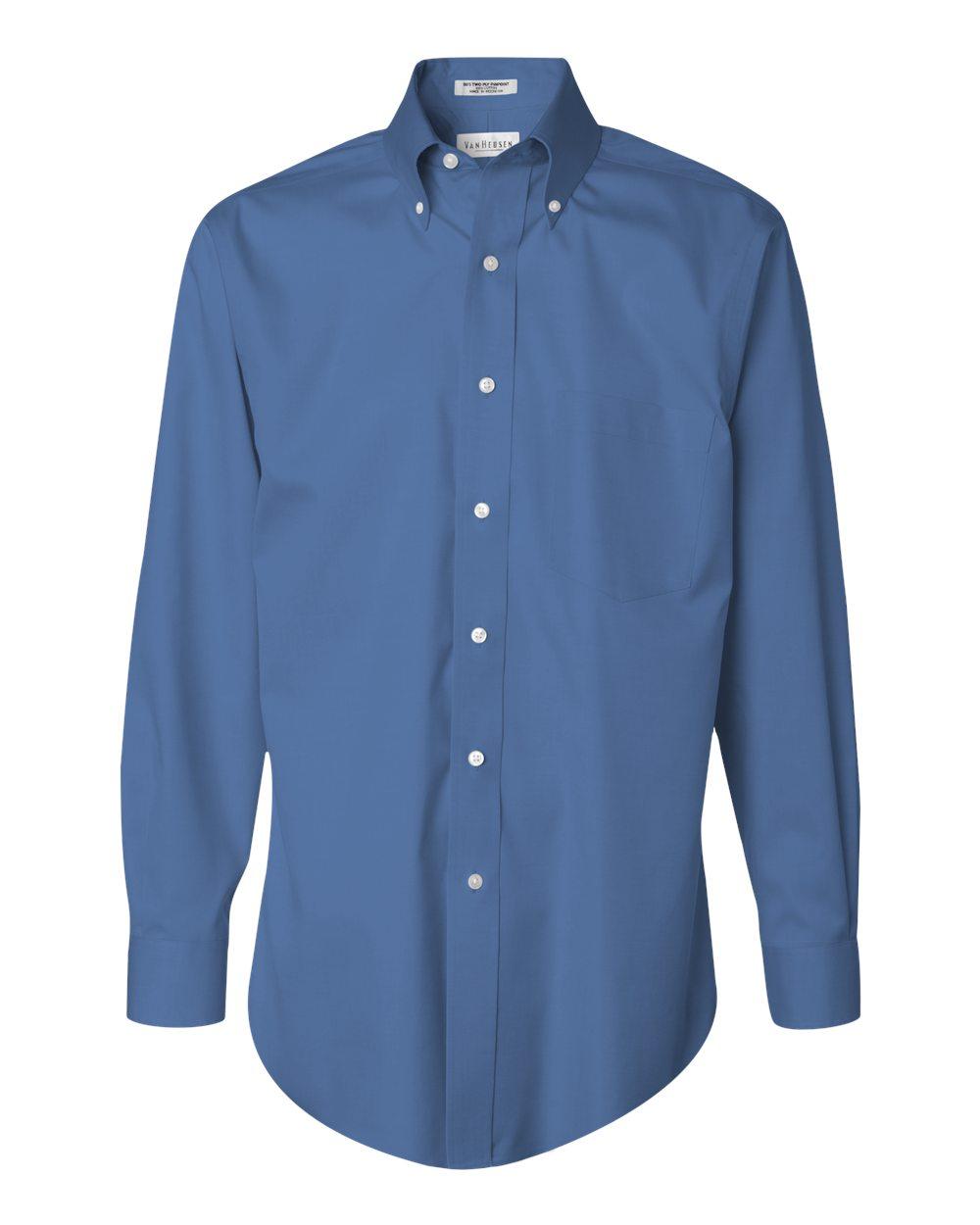 Custom embroidered logo dress shirts no iron for Dress shirt monogram placement