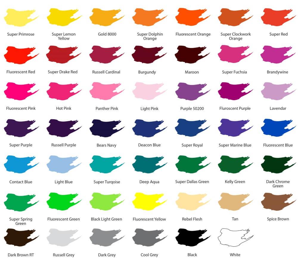 custom t shirt printing ink colors broken arrow